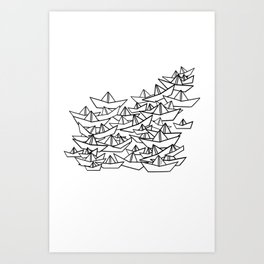 Sardine's Paper Boats Art Print