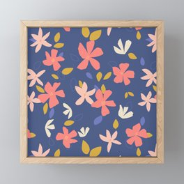 Dancing Florals Framed Mini Art Print