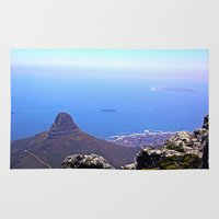 south africa Area & Throw Rugs featuring South Africa Impression 9 by Art-Motiva