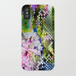 snake flowers iPhone Case