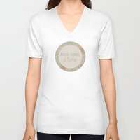 once upon a  time V-neck T-shirts featuring once upon a time by gabriela chavez