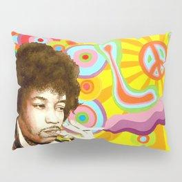 Jimi Hendrix (Peace & Love) Pillow Sham