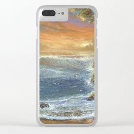 Sunsest Sea Clear iPhone Case