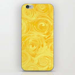 Honey Yellow Roses Abstract iPhone Skin