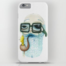 Old Man Smoking Giraffe Pipe iPhone Case