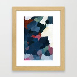 Abstract meditation forest 1 Framed Art Print