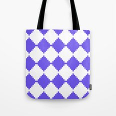 Abstract geometric pattern - blue and white. Tote Bag