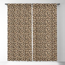 Leopard Print, Black, Brown, Rust and Tan Blackout Curtain