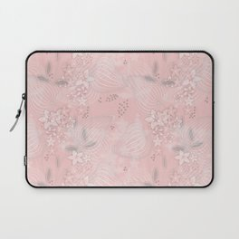 Pink floral pattern 2 Laptop Sleeve