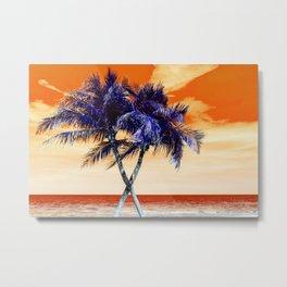 Beach on fire Metal Print