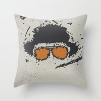 fear and loathing Throw Pillows featuring Fear and Loathing in Las Vegas by Jacob Wise