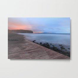 Beach at sunset Metal Print