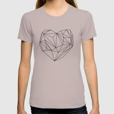 Heart Graphic (black on white) LARGE Womens Fitted Tee Cinder
