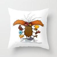 bookworm Throw Pillows featuring Bookworm by Tayfun Sezer