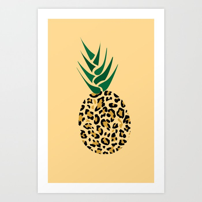 Leopard Pineapple Picture Art Print By 1986 Society6