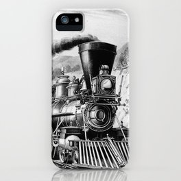 The Express Train 1870 iPhone Case