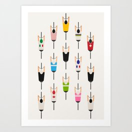 Bicycle squad Art Print