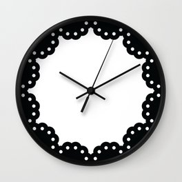 Scallop lace wall clock Wall Clock