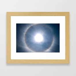 Rainbow Around the Sun Framed Art Print