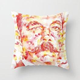 ARTHUR CONAN DOYLE - watercolor portrait.1 Throw Pillow