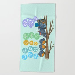 Spring Birds Beach Towel