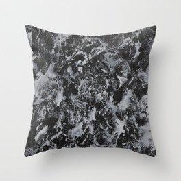 White Ink on Black Background #4 Throw Pillow