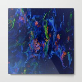 Midnight Mist In Blue Metal Print
