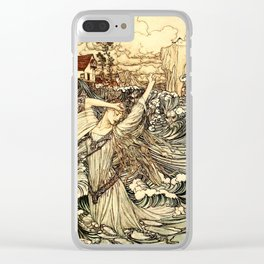 Arthur Rackham - Fouqué - Undine (1909) - Soon she was lost to sight in the Danube Clear iPhone Case