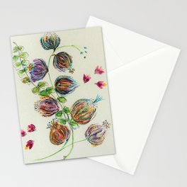 Elegant Floral Buds by Barbara Chichester Stationery Cards