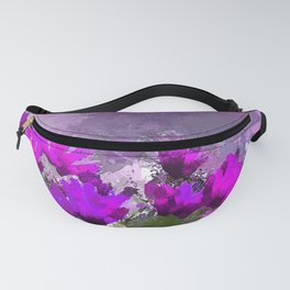 African Daisies With Wall Indigo Watercolor Fanny Pack