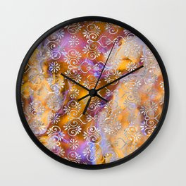 Psicodelic Adventure - Orange Wall Clock