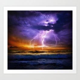 Illusionary Lightning Art Print