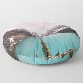 Moraine Lake Banff National Park Floor Pillow