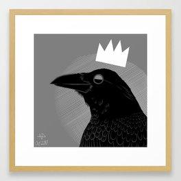 King of Crows Framed Art Print