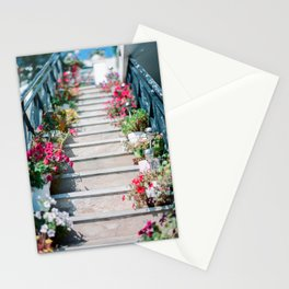A Staircase of Flowers Stationery Cards