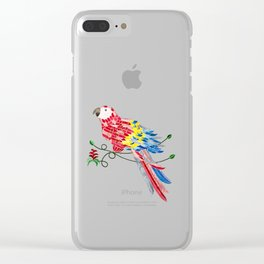 Bird of Costa Rica, scarlet macaw Clear iPhone Case