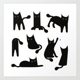 Lucky Black Cat Art Print