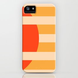 GEOMETRY ORANGE I iPhone Case