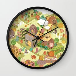 Slowtown Wall Clock
