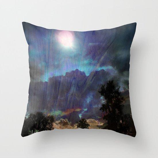Blend Back From Affar Throw Pillow