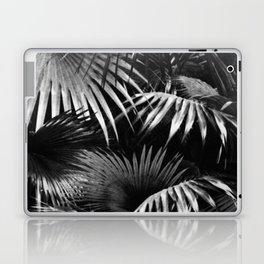 Tropical Botanic Jungle Garden Palm Leaf Black White Laptop & iPad Skin