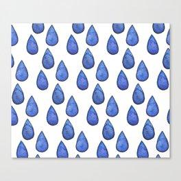 Watercolor raindrops Canvas Print