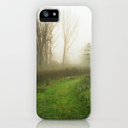Beautiful Morning - Autumn Field in Fog iPhone Case