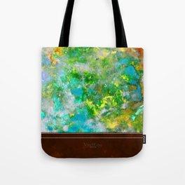 Abstract Art in Color Symphony Green Tote Bag