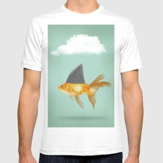 Under a Cloud White Mens Fitted Tee MEDIUM
