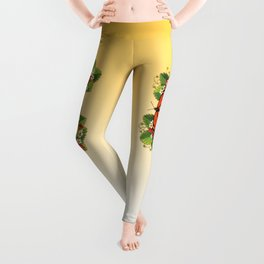 Monarch Butterfly with Strawberries Leggings