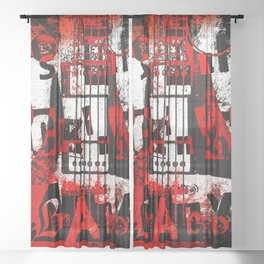 it's only rock n roll Baby Sheer Curtain