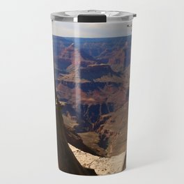 Grand Canyon View Through Dead Tree Travel Mug