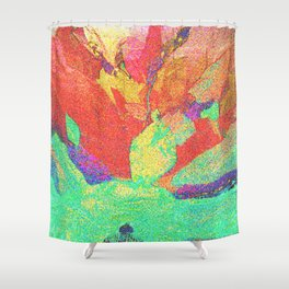 Flower Petals in Space/Time Shower Curtain