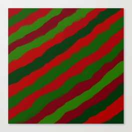 Red and Green Christmas Wrapping Paper Canvas Print